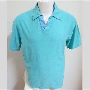 Sz M Aqua Blue Nat Nast Mens 100% Cotton #447 Polo